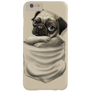 Chillin  Pocket Pug Puppy Barely There iPhone 6 Plus Case