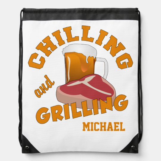 Chilling & Grilling custom name backpack