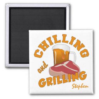 Chilling & Grilling custom name magnet