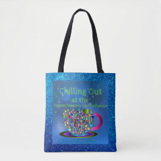 Chilling Out at the MoonDreams Coffeehouse Tote Bag