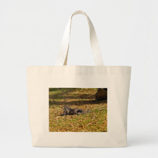 Chilling out at Zoo Atlanta Large Tote Bag