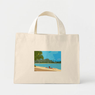 Chilling out in Hawaii tote bag