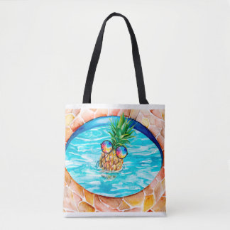 Chilling Pineapple Tote Bag
