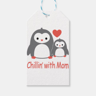 chilling with Mom, cool loving cartoons Gift Tags