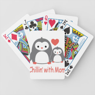 chilling with Mom, cool loving cartoons Poker Deck