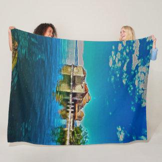 Chillon Castle, Geneva Lake, Switzerland Acrylic Fleece Blanket