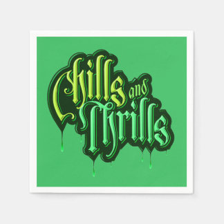 Chills And Thrills Halloween Party Paper Napkins