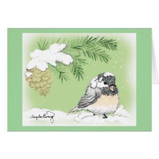 Chilly Chickadee Card