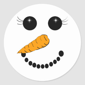 Chilly Face Classic Round Sticker