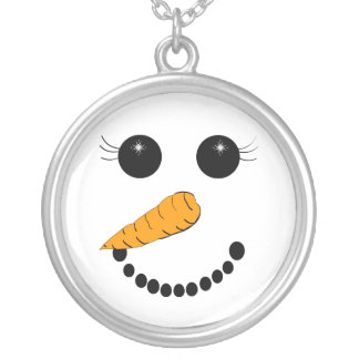 Chilly Face Silver Plated Necklace