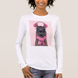 Chilly Llama Pink Long Sleeve T-Shirt