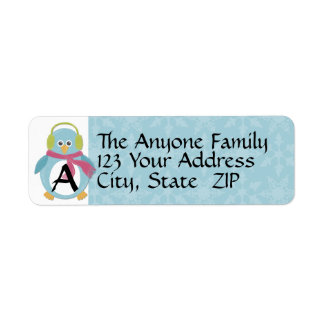 Chilly Penguin Return Address Label