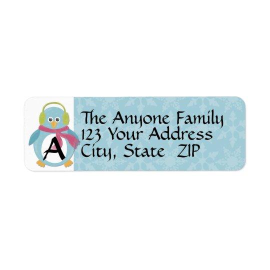 Chilly Penguin Return Address Label