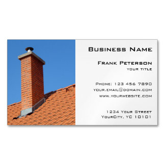 Chimney - Construction and Maintenance Magnetic Business Card