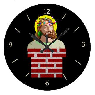 Chimney Jesus Wallclock