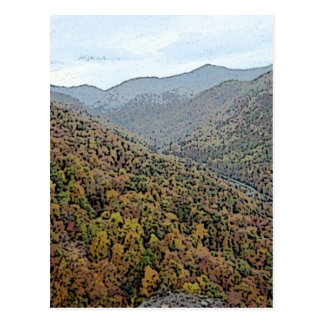 Chimney Rock Area Mountains Postcard