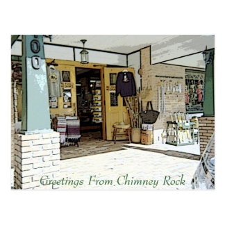Chimney Rock, Creek, & Seasons Greetings Postcard