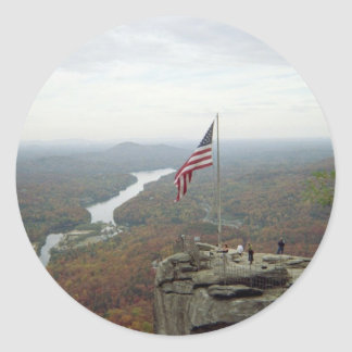 Chimney Rock Mountain Classic Round Sticker