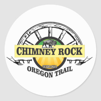 chimney rock yellow art classic round sticker