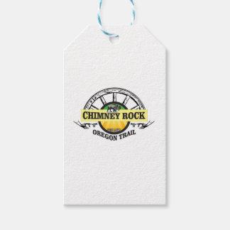 chimney rock yellow art gift tags