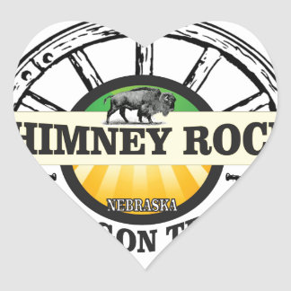 chimney rock yellow art heart sticker