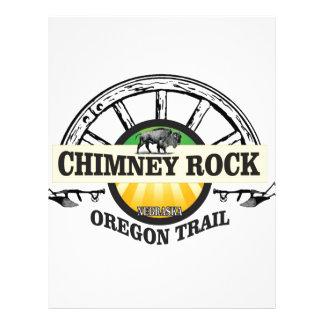 chimney rock yellow art letterhead