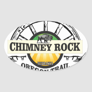 chimney rock yellow art oval sticker