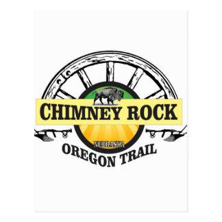 chimney rock yellow art postcard