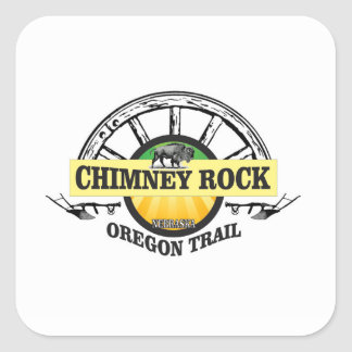 chimney rock yellow art square sticker