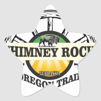 chimney rock yellow art star sticker