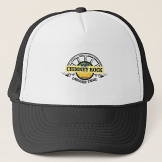 chimney rock yellow art trucker hat