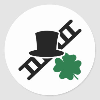 Chimney sweep classic round sticker