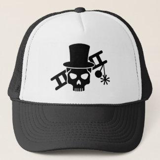 Chimney sweep skull trucker hat