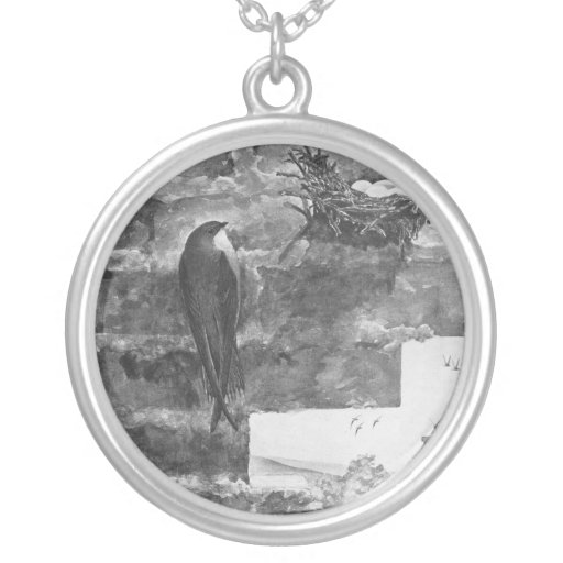 Chimney Swift and Nest Jewelry