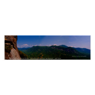 "chimneyrock pano left, ""The trail is the thing,... Poster"