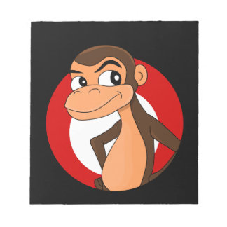 Chimp cartoon notepad