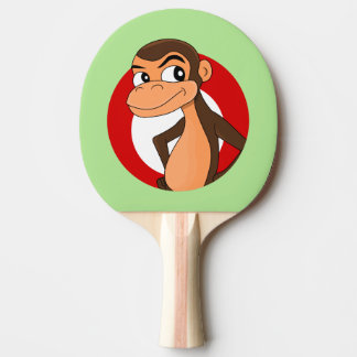Chimp cartoon ping pong paddle