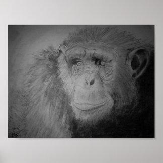 """""""Chimp"""" Poster"""