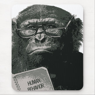 Chimp Reading Mouse Pad