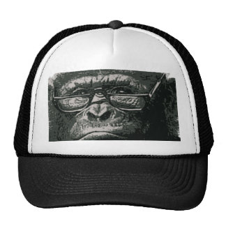 Chimp Reading Trucker Hat