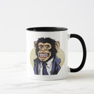 Chimp with Suit by Mudge Studios Mug