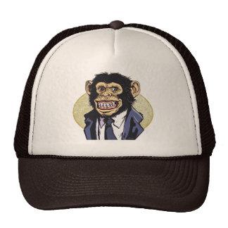 Chimp with Suit by Mudge Studios Trucker Hat