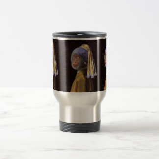 Chimp With The Pearl Earring Coffee Mugs