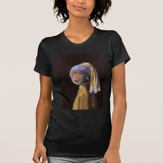 Chimp With The Pearl Earring T-shirt