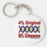 chimpanzé de 96% porte-clef