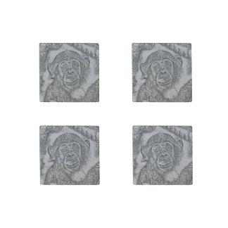 Chimpanzee 20161101 stone magnets