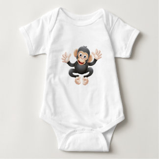 Chimpanzee Animal Cartoon Character Baby Bodysuit