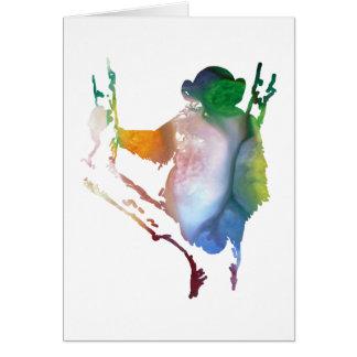 chimpanzee art card