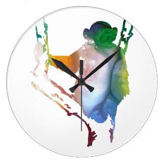 chimpanzee art clocks