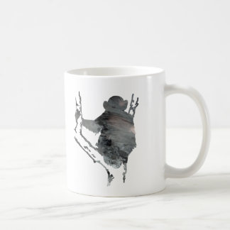 chimpanzee art coffee mug